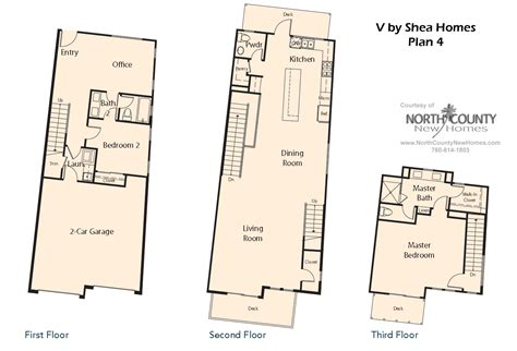 v by shea homes in leucadia floor plan 4 county