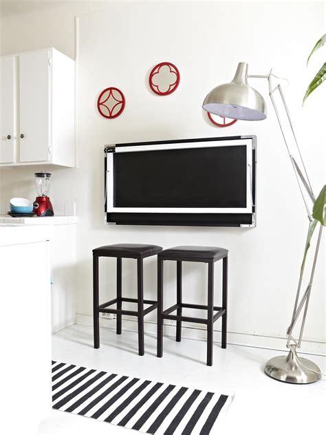 build a flip down kitchen table hgtv