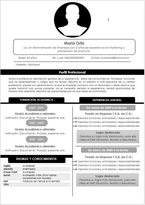 Modelo De Curriculum Vitae Archivo Word 191 C 243 Mo Hacer Un Curr 237 Culum Vitae Gu 237 A Paso A Paso Gt Ejemplos Y Formatos Mil Formatos