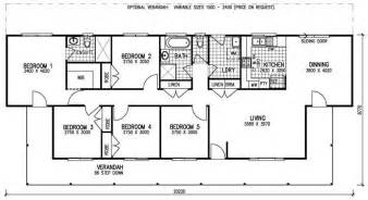 5 Bedroom Floor Plan 5 Bedroom Kit Home Karingal Mkiii The Owner Builders