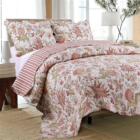 100 cotton coverlet flowers in paradise 100 cotton quilt set bedspread