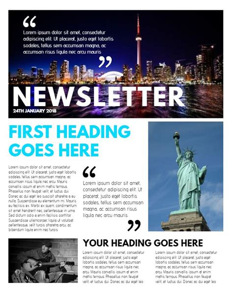 Professional Newsletter Sle Click To Customize Newsletter Sles Pinterest Templates Professional Newsletter Templates