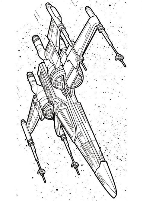 x wing starfighter coloring page free x wing fighter coloring pages
