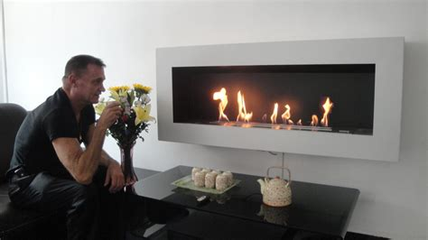bio fireplace afire bio ethanol remote controlled vent free fireplace