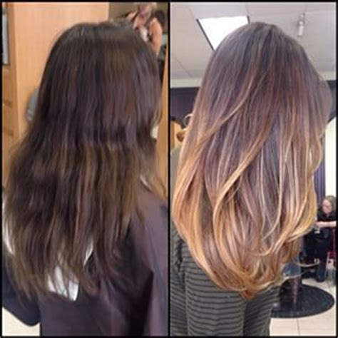 balayage highlights before and after pictures the gallery for gt balayage before and after dark hair