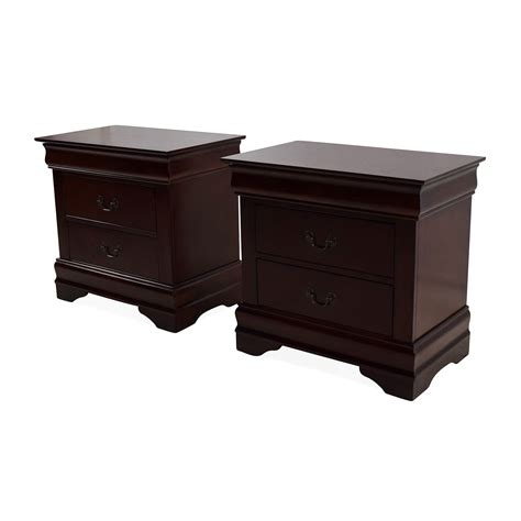 Nightstand Set Of 2 62 Set Of 2 Wooden Nightstands With Drawers Tables