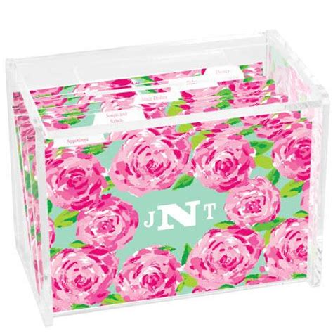 lilly pulitzer desk accessories lilly pulitzer first impression recipe box