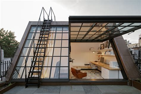 home design studio windows greenwich village townhouse boasts cool rooftop office 6sqft