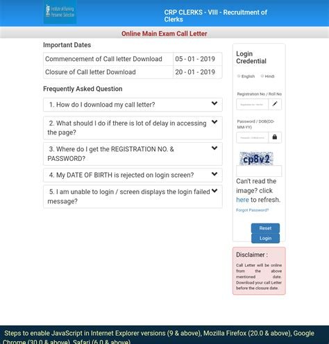 ibps crp clerks viii main exam admit card released    knowledge philic