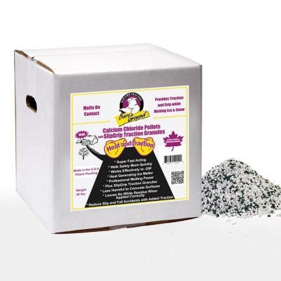 bare ground 40 lb box of calcium chloride pellets with
