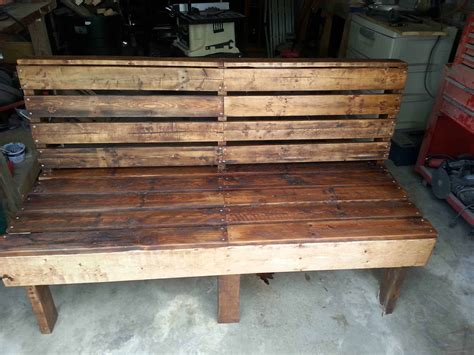 bench made from chairs pallet bench 1001 pallets