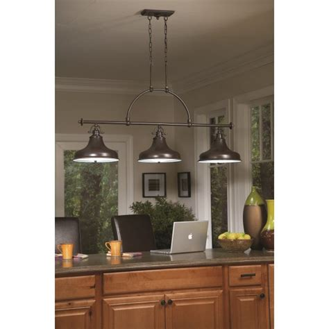 kitchen lighting collections bronze factory style long bar ceiling pendant light for