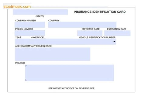 Car Insurance Card Template Free by Free Auto Insurance Card Template Best Business Template