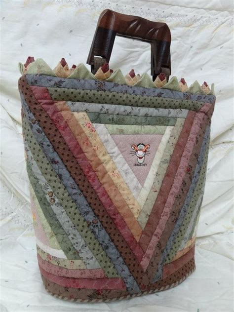 log cabin patchwork log cabin patchwork purse bolso bag bags