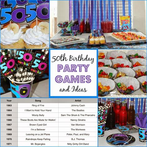 party themes hilarious 50th birthday party games and ideas party pinterest