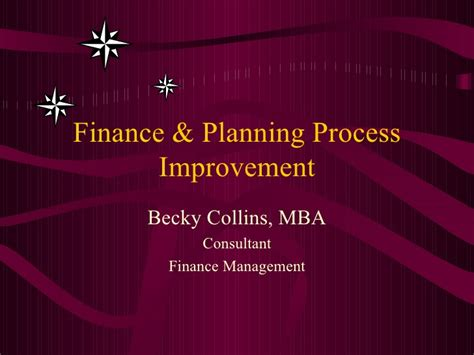 Mba In Process Improvement by Finance Process Improvement