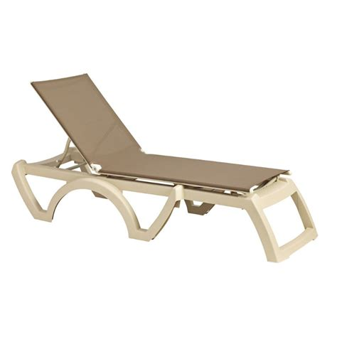 grosfillex chaise grosfillex calypso resin adjustable sling chaise lounge