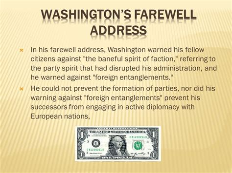 washington s farewell the founding s warning to future generations books a new nation chapter 6 sections ppt