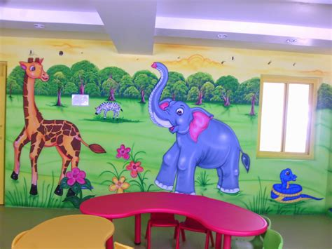 painting for play play school wall painting 3d wall painting