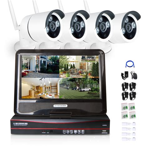 10 1 monitor wireless 4ch cctv nvr 720p ip network