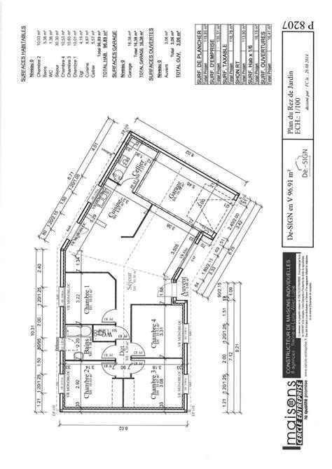 Plan De Maison Design by Maison Design Pas Cher 96 En V
