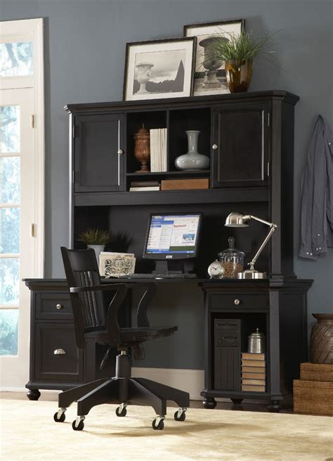 homelegance home office set black 8891bk deskhutch