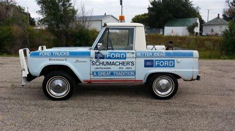 ford bronco half cab 1966 ford bronco 4x4 half cab for sale in linton