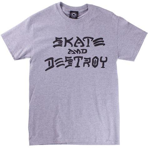 Kaos Thrasher Thrasher Tees Thrasher Tshirt Thrasher 6 thrasher skate and destroy t shirt grey