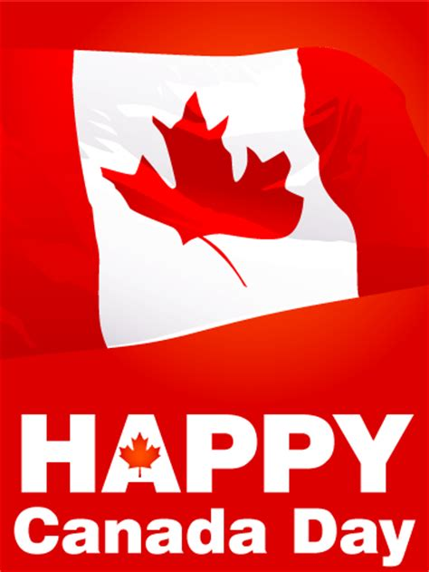 flag day canada waving canadian flag canada day card birthday greeting