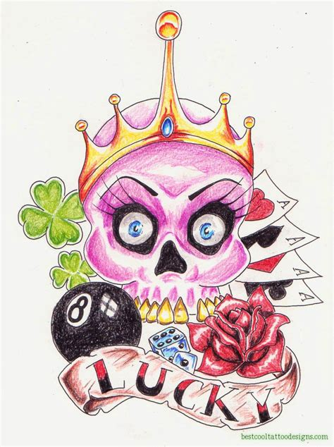 girly skull tattoos designs girly skulls designs best cool designs