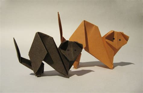 Origami Caterpillar - origami cat easy origami tutorial how to make an