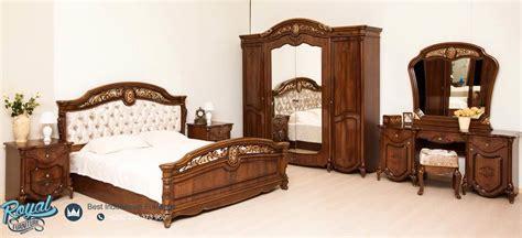 set kamar tidur mewah jati klasik furniture bedroom terbaru royal furniture jepara