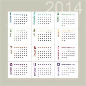 2014 12 Month Calendar Template by 20 Monthly Calendar 2014 Vector Images 2014 Monthly
