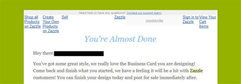 email zazzle cart abandonment email that adds value isn t too creepy