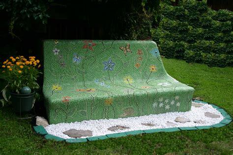 mosaic bench my garden bench part one naturally mosaics