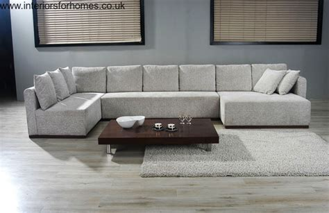 big sofa couch cowan large u shape sectional sofa in microfiber cafe or