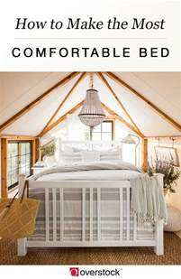 how to make the most comfortable bed overstock