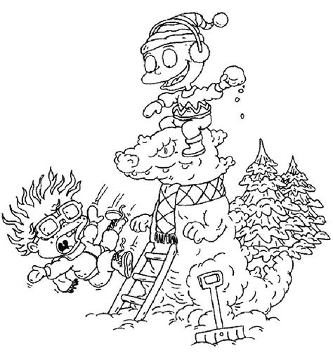 free printable rugrats coloring pages kids