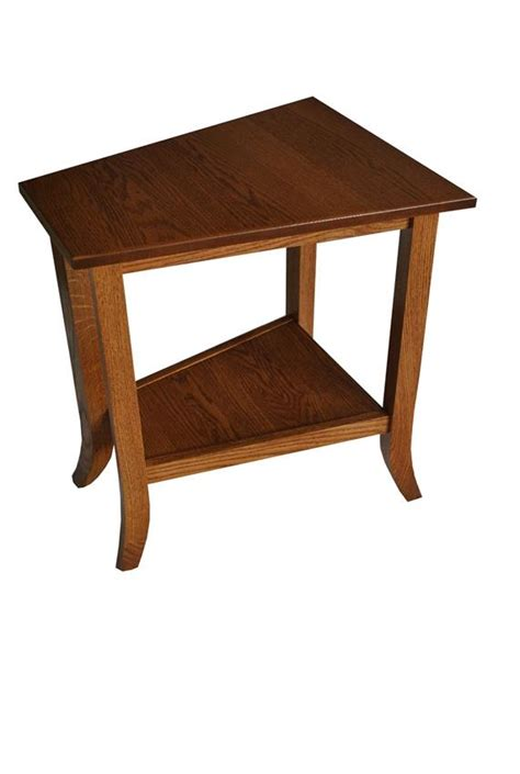 wedge accent table bunker hill wedge end table from dutchcrafters amish furniture