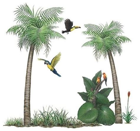 Palm Tree Wall Stickers palm tree sticker mural wall decal traditional wall