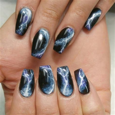 lightning nail art tutorial lightning nails nail art gallery