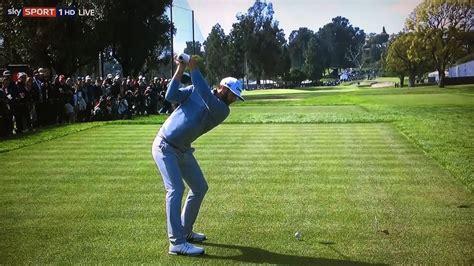 dustin johnson golf swing slow motion dustin johnson swing vision slow motion genesis open