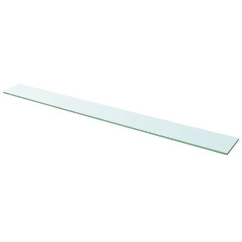 mensola trasparente vidaxl mensola in vetro trasparente 110x12 cm vidaxl it