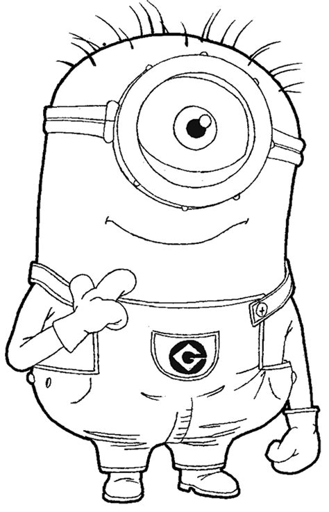 free coloring pages minions free minion coloring pages bestofcoloring com