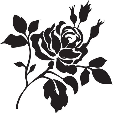 printable stencils rose 17 best images about stencils and silhouettes on pinterest