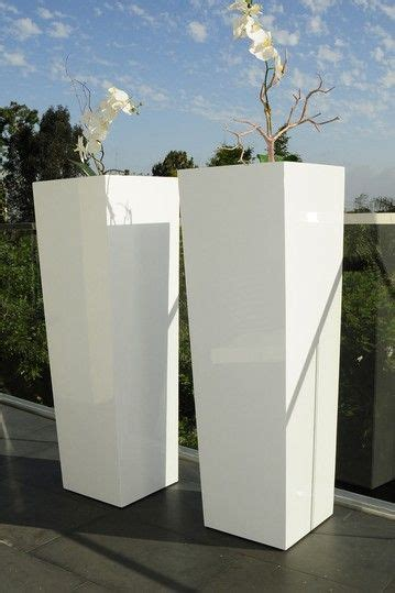 planters awesome white modern planter modern outdoor
