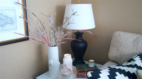 tree branch home decor icy looking branches for winter decor that won t break the