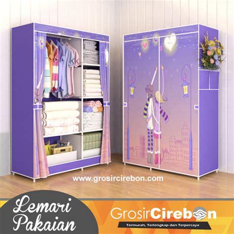 Rak Lemari Portable 4 1 4 Pintu lemari pakaian portable r 03 grosir cirebon