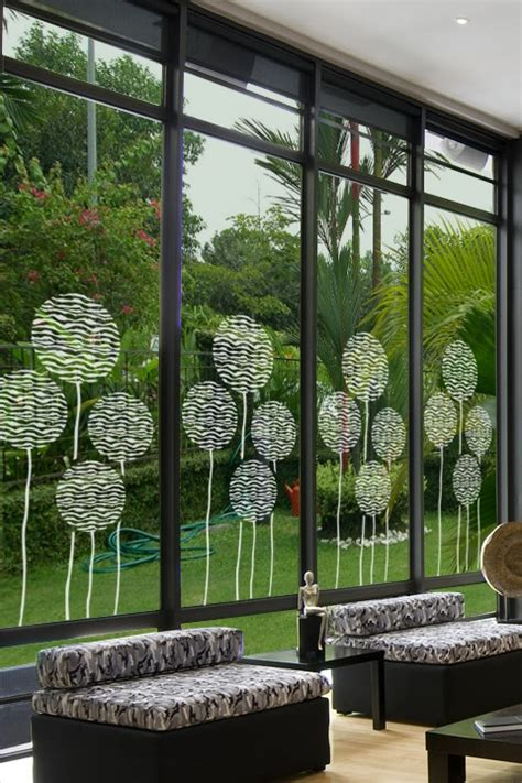 Baroque Wall Stickers balloons glass decal glass decals