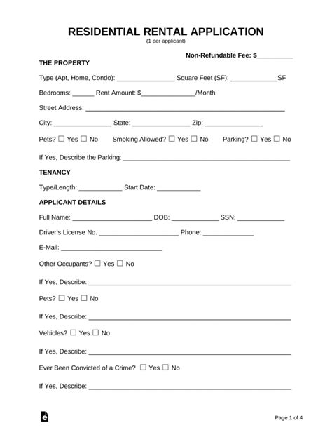 14 elegant residential lease agreement form worddocx